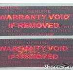 Red 15 mm x 30 mm ( 0.60in x1.20in ) TAMPER EVIDENT SECURITY VOID HOLOGRAM LABELS