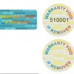 CUSTOM PRINT hologram warranty security sticker label VOID